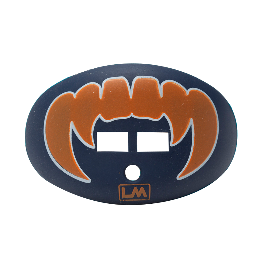 LOUDMOUTHGUARDS VAMPIRE FANGS Tiger Navy Blue + Orange 850867006291