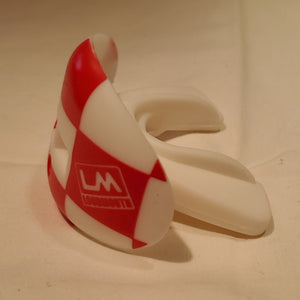 Red and White Checkers Mouthguard