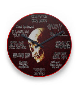 "Skull Dark 11"" Round Wall Clock"