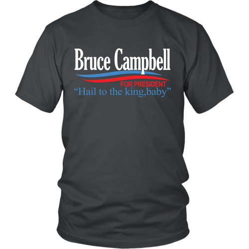 Ready-To-Ship Small Campbell For President! T-Shirt - Asphalt