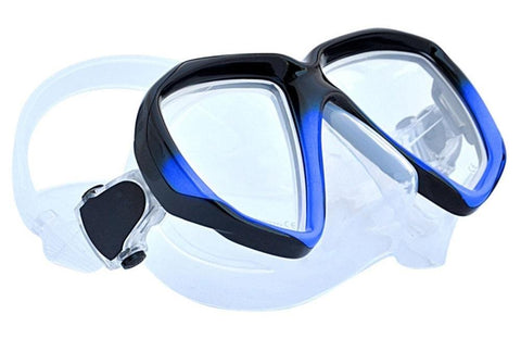 Apollo SV-2 Dive Mask Black Blue Frame_Clear Skirt