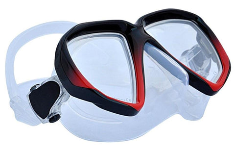 Apollo SV-2 Dive Mask Black Red Frame_Clear Skirt