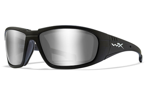 Wiley X Boss_Gloss Black_Grey Silver Mirror Lens