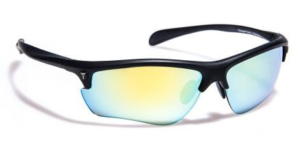 Elite Matte Black Revo Gold_Polarised Gold Mirror