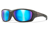 Wiley X Gravity_Black Crystal_Polarised Blue Mirror Lens