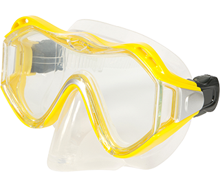 Leader Junior Yellow Snorkelling Mask With Prescription
