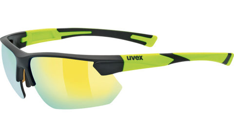 Uvex Sportstyle 221 Matte Black Yellow_Gold Mirror