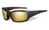 Wiley X Tide Matte Hickory Brown_Venice Gold Mirror Lens