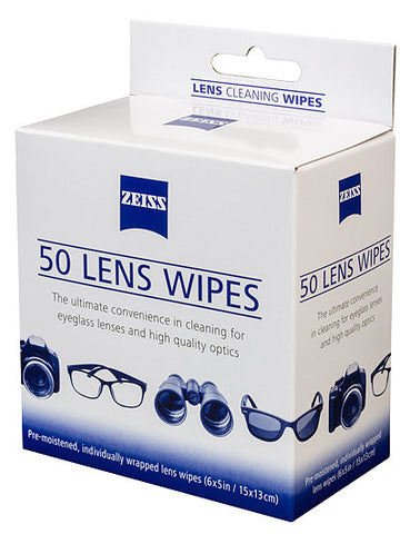 Zeiss Lens Cleaning Wipes (Includes Postage)
