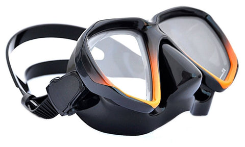 Apollo SV-2 Dive Mask Black Orange Frame_Black Skirt
