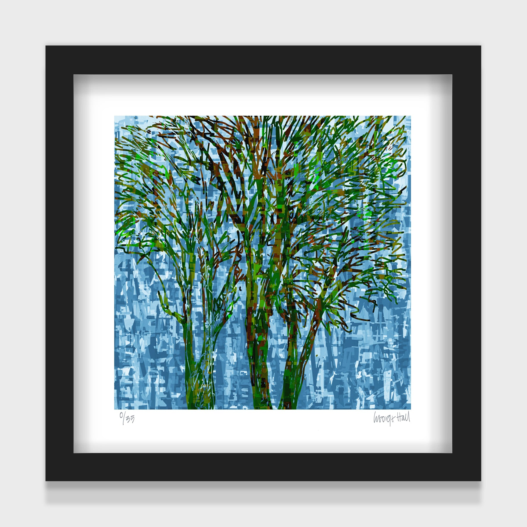 CANTERBURY TREES - 25cm - White/Black Framed or Unframed
