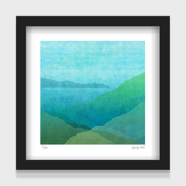 Gradual Harbour - 25cm - White/Black Framed or Unframed