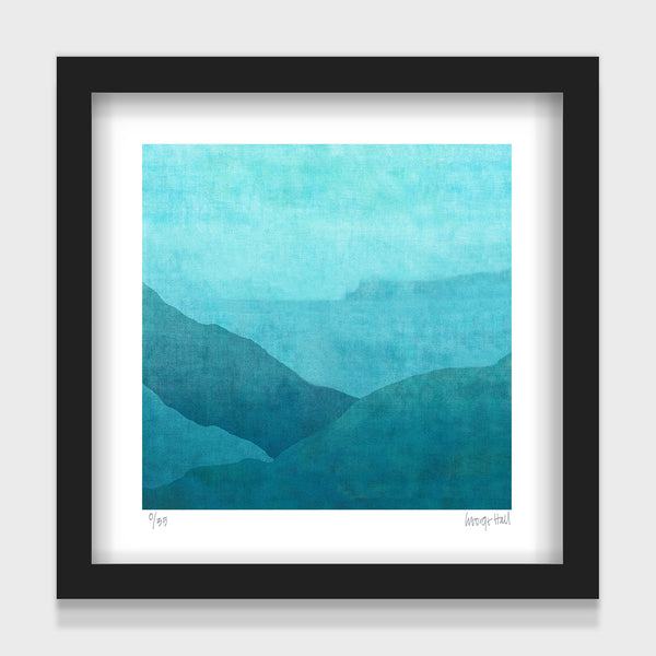 Gradual Night Harbour - 25cm - White/Black Framed or Unframed