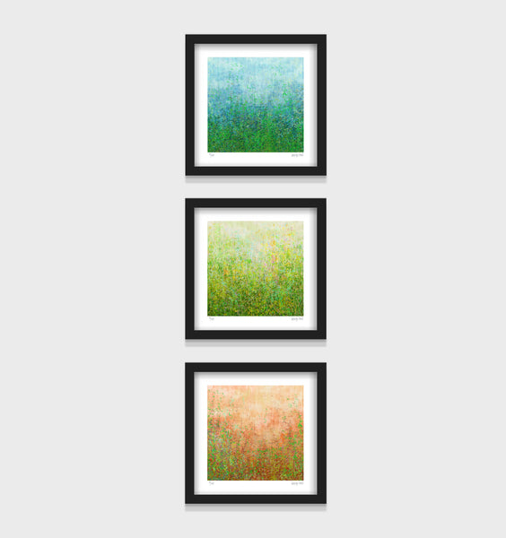 French Garden - 25cm - White/Black Framed or Unframed