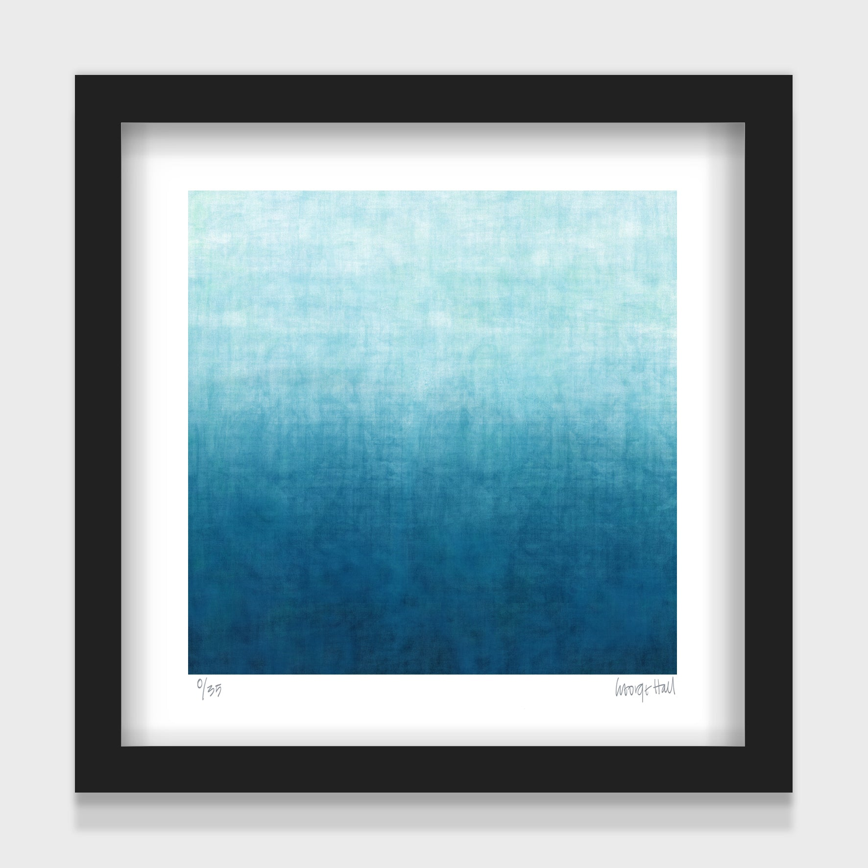 Gradual Beach - small - White/Black Framed or Unframed
