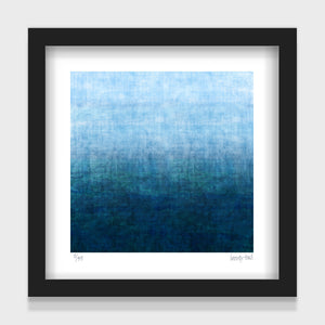 Gradual Seas - small - White/Black Framed or Unframed