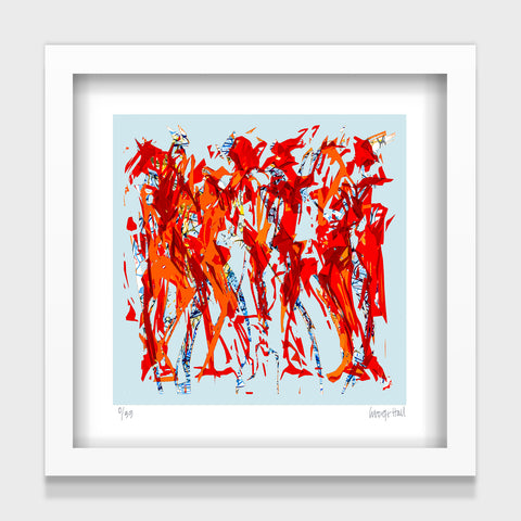 Groovers and Shakers - 25cm - White/Black Framed or Unframed