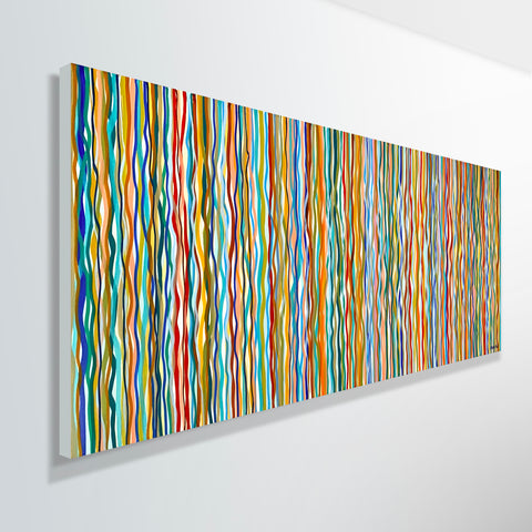Funky Ripple - 152 x 61cm acrylic on canvas