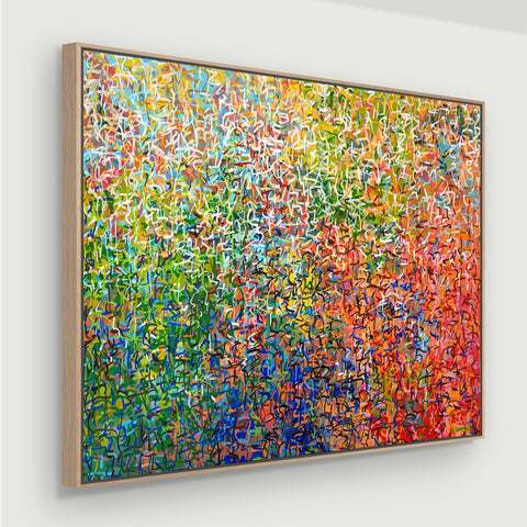 Hippie Trippy - Framed - 123 x 93cm - acrylic on canvas