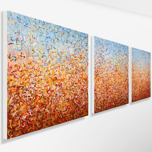 Outback Oondiri- Triptych- acrylic painting on canvas