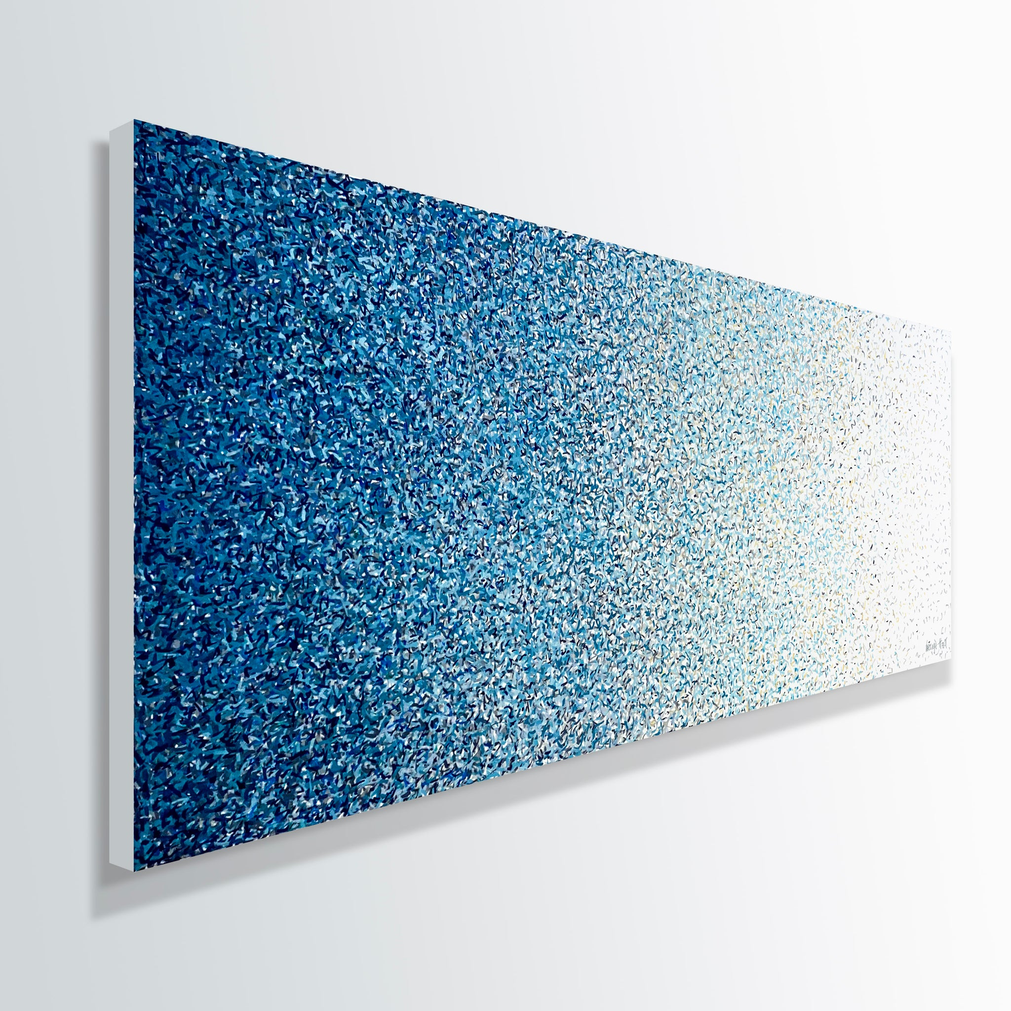 Freehand Shore 152cm x 60cm acrylic paint on canvas