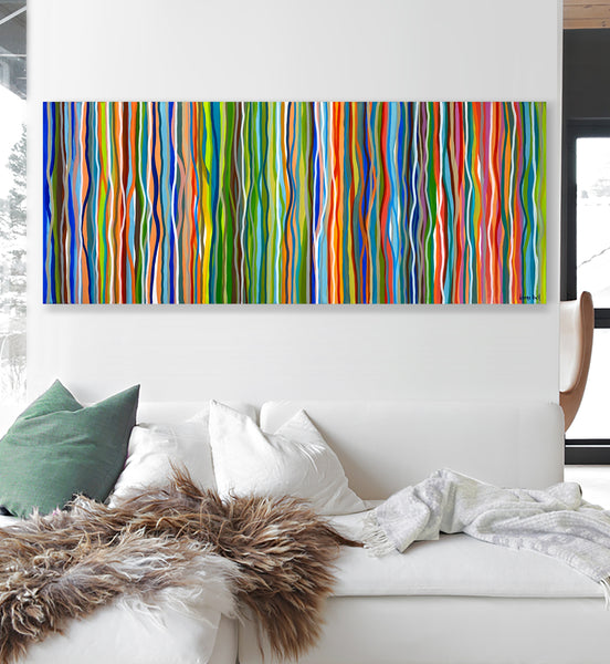 Commission Belgium- Funk and Groove - 152 x 76cm acrylic on canvas