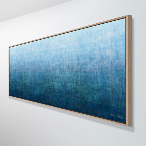 FRAMED Gradual Depth 155 x 65 cm mixed media painting on canvas - George Hall