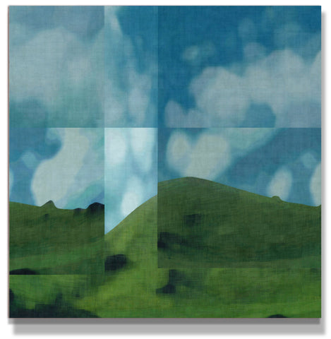 Mount McCahon Limited Edition Giclee Print on 100cm square Canvas - George Hall
