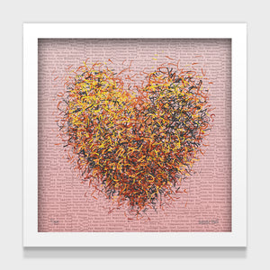 Optimist Hearts Set of 4 Framed - 25cm