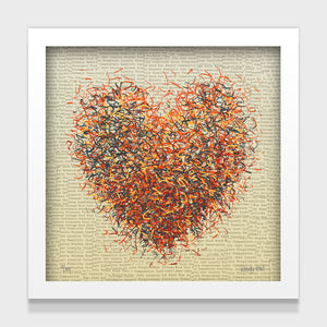 Optimist Sienna - 25cm - White/Black Framed or Unframed
