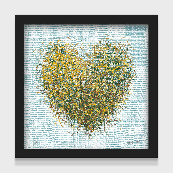 Optimist Teal - 25cm - White/Black Framed or Unframed