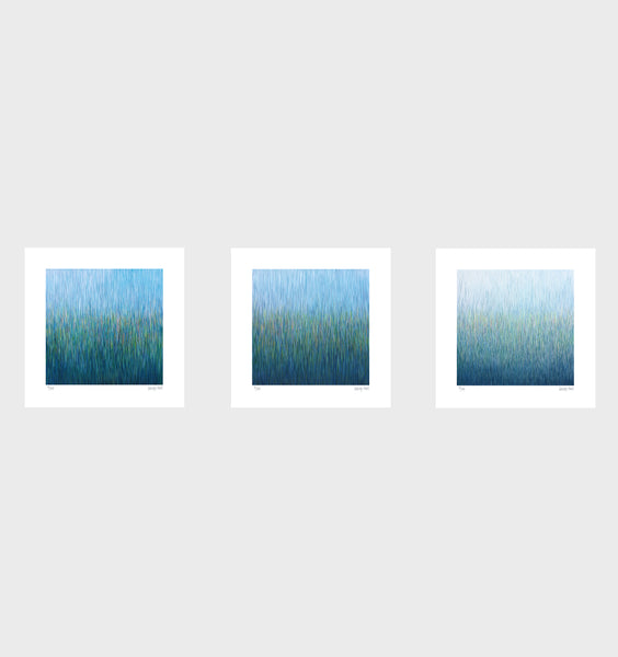 Rain in Paradise Series- Set of 3- Small 25 x 25cm