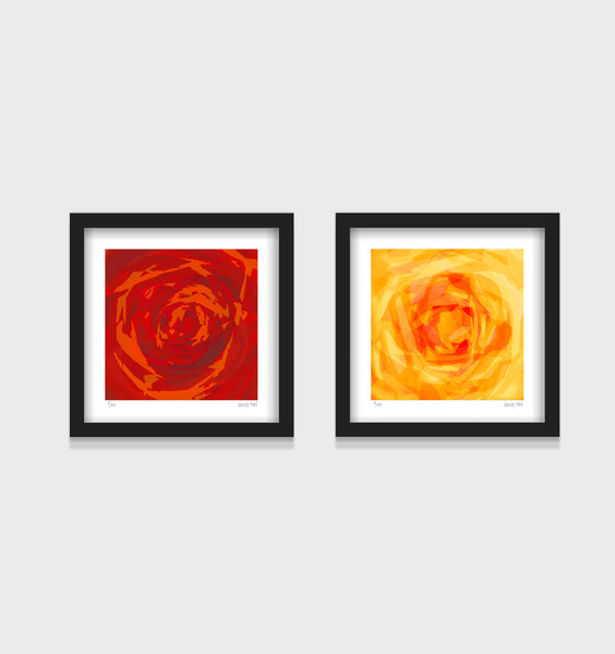 Rose Series- Set of 2- Small 25 x 25cm