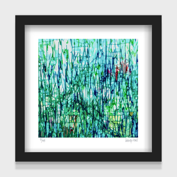 The Garden - 25cm - White/Black Framed or Unframed