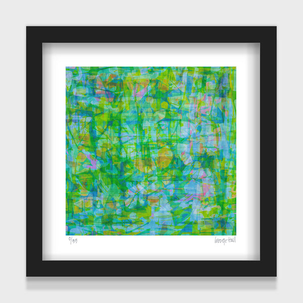 The Pond - 25cm - White/Black Framed or Unframed