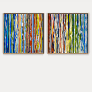 The Velvet Forest – Diptych – 80 x 80cm each – Acrylic on canvas