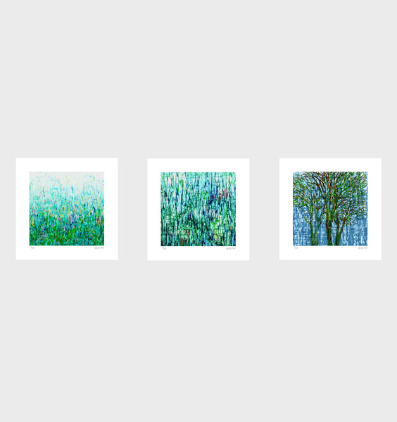 Wendys Garden - 25cm - White/Black Framed or Unframed