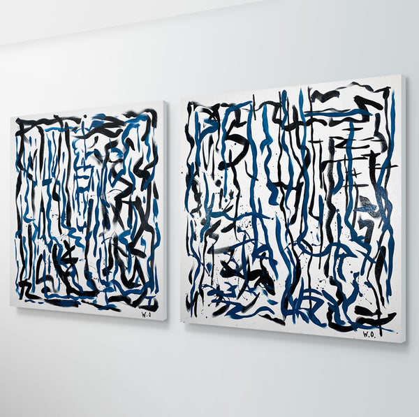 Labyrinth Two - 92 x 92 cm - acrylic on canvas