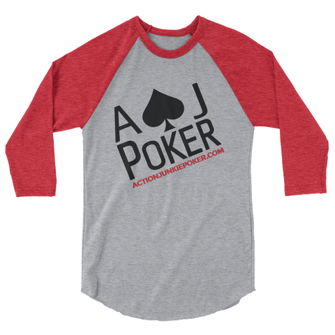 MEN'S POKER  ¾ SLEEVE TEE