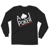 AJPOKER-GEAR Men's Lightweight LongSleeve Shirt-FrontView-Black