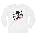 AJPOKER-GEAR Men's Lightweight LongSleeve Shirt-FrontView-White
