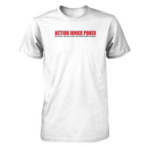 AJPOKER-GEAR Men's Short Sleeve Tee V2 White