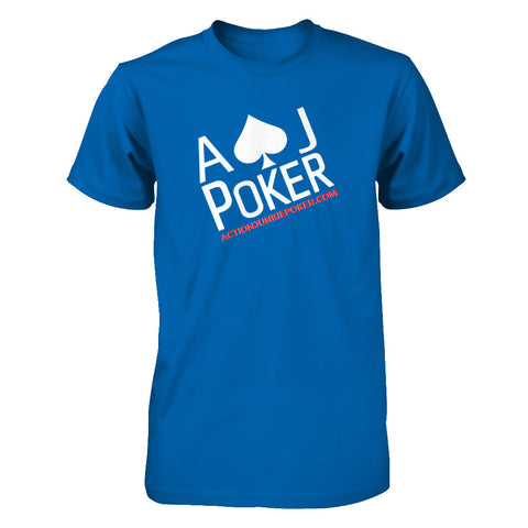 AJPOKER-GEAR Men's Short Sleeve Tee Royal