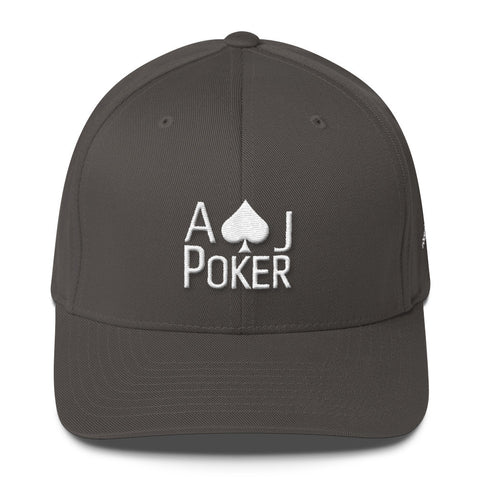AJPoker Flex-Fit Hat Dark Grey