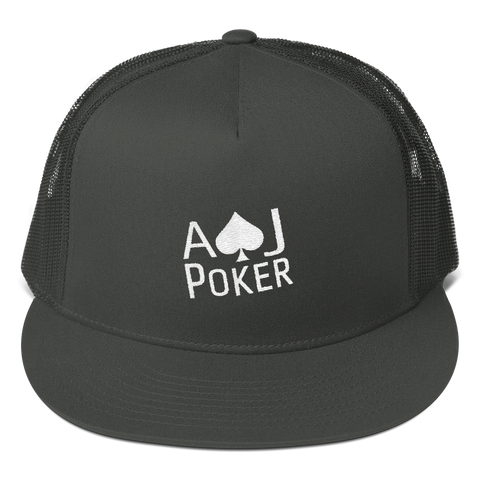 CLASSIC MEN'S POKER SNAP-BACK WITH MESH BACK