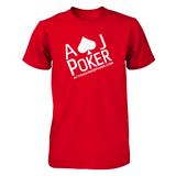 AJPOKER-GEAR Unisex Fitted Tee Red