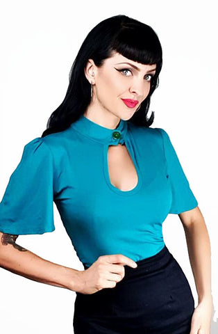 Bella Teal peephole top