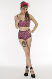 Pink leopard twinset - Bonsai Kitten retro clothing