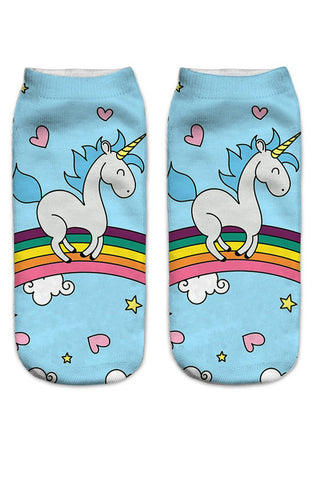 Unicorn ankle socks - Bonsai Kitten retro clothing