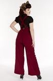 Suspender swing pants - dark red - Bonsai Kitten retro clothing